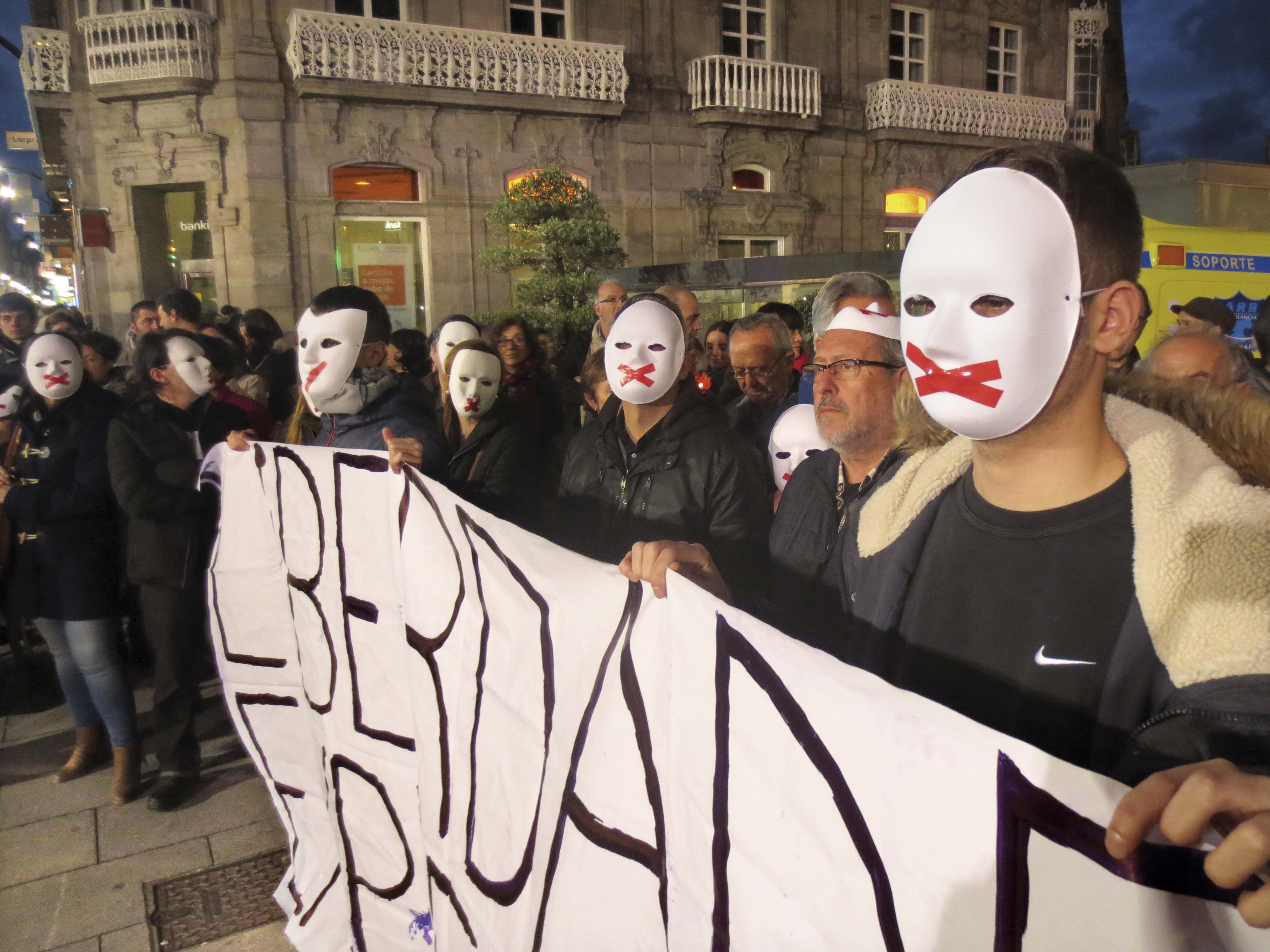 Manifestación en Vigo en apoio a La Insurgencia.