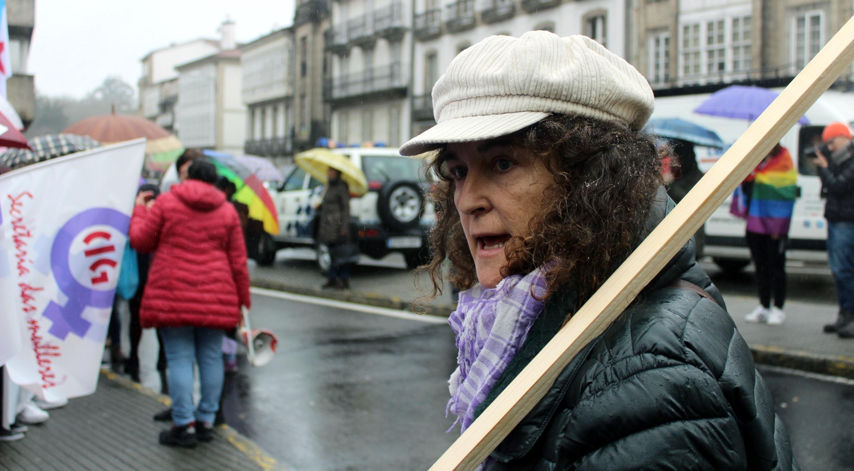 Laura Bugalho onte en Compostela