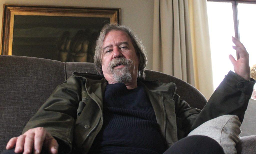 Daniel Raventós, durante a entrevista, antes da súa intervención na Semana de Filosofía.
