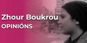 Zhour Boukrou. Refuxiada, vive coa súa familia en Galiza desde o 2016.