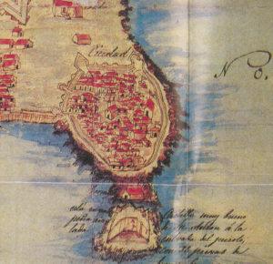Mapa de Santans e Tapia, cedido polo Departamento de Proxectos Arquitectónicos e Urbanismo da UDC.