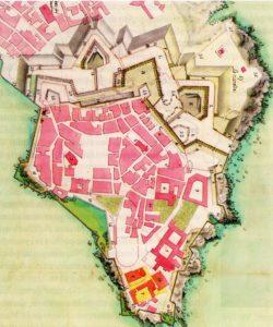 Mapa de Martin Zermeño, cedido polo Departamento de Proxectos Arquitectónicos e Urbanismo da UDC.