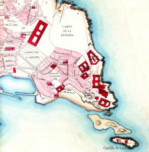 Mapa do Corpo do Estado Maior do Exército, cedido polo Departamento de Proxectos Arquitectónicos e Urbanismo da UDC.