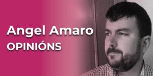 Ángel Amaro. Membro da Comisión de Sexodiversidade da asociación cultural A Galleira.