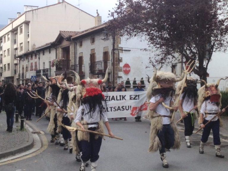 Manifestación en Altsasu en 2016. Imaxe: BORO LH