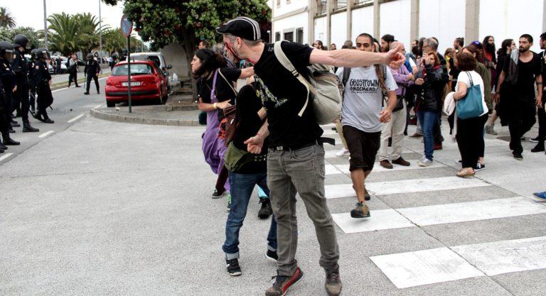 A xornada do despexo do CSO A Insumisa, na Coruña.