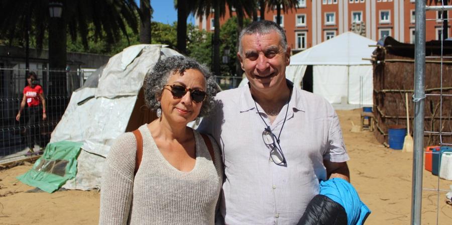 Simone Portugal e Marcos Sorrentino, conferenciantes en Acampa.