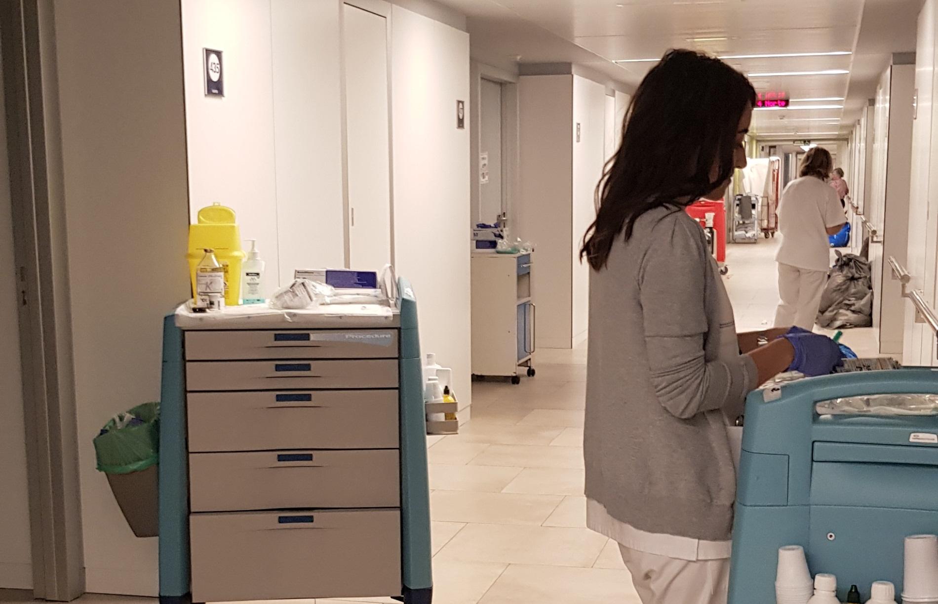 Reportaxe sobre sanidade pública. Enfermeiras.